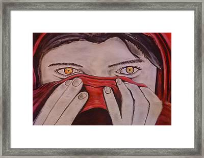 Afghan Girl Framed Print by Colin O neill