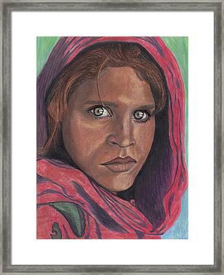 Afghan Girl Framed Print