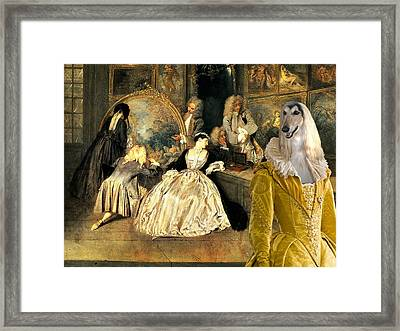 Afghan Hound-at The Artdealer's Shop Canvas Fine Art Print Framed Print