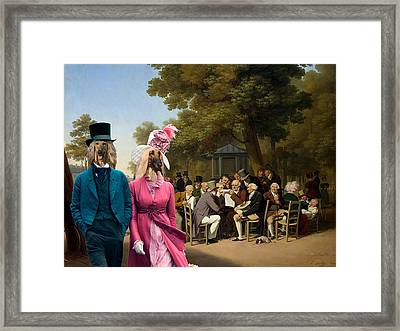 Afghan Hound-politicians In The Tuileries Gardens  Canvas Fine Art Print Framed Print by Sandra Sij