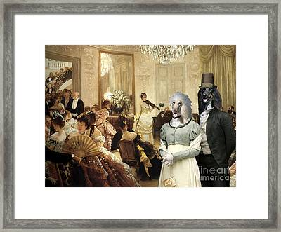 Afghan Hound-the Concert  Canvas Fine Art Print Framed Print by Sandra Sij