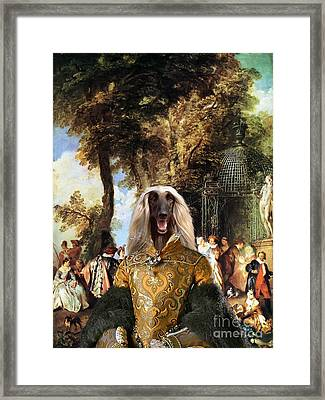 Afghan Hound-the Winch Canvas Fine Art Print Framed Print by Sandra Sij
