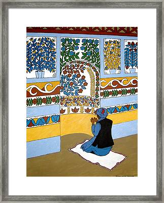 Framed Print featuring the painting Afghan Mosque by Stephanie Moore