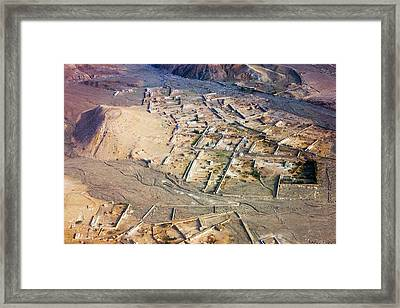 Afghan River Village Framed Print