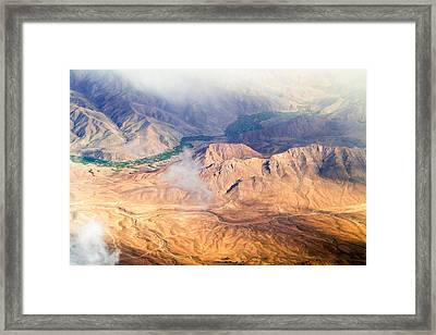 Afghan Valley At Sunrise Framed Print
