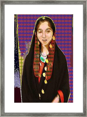 Afghani Girl Framed Print by Noredin Morgan
