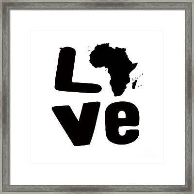 Afrakan Love  Framed Print