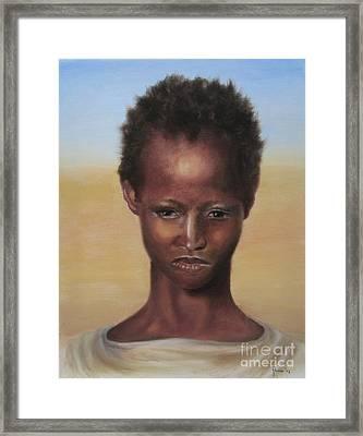 Framed Print featuring the painting Africa by Annemeet Hasidi- van der Leij