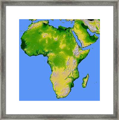 Framed Print featuring the pyrography Africa by Artistic Panda