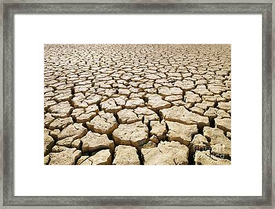 Africa Cracked Mud Framed Print by Larry Dale Gordon - Printscapes