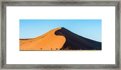 Africa Morning - Namibia Sand Dune Photograph Framed Print
