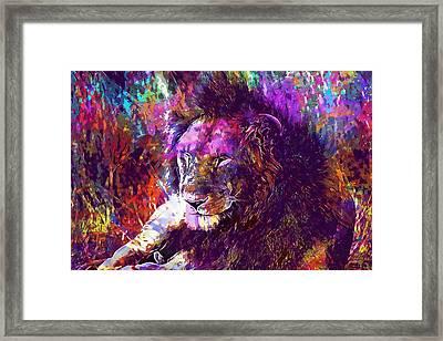 Framed Print featuring the digital art Africa Safari Tanzania Bush Mammal  by PixBreak Art