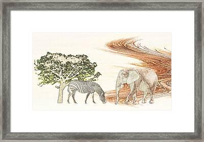 Africa Framed Print by Sharon Lisa Clarke
