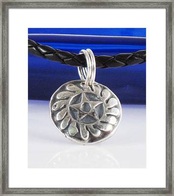 African Adinkra - New Beginnings Pendant Framed Print