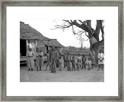 African American Descendants Of Former Framed Print by Everett