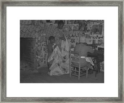 African American Mother Is Assisted Framed Print