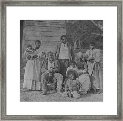 African American Slave Family Framed Print by Everett