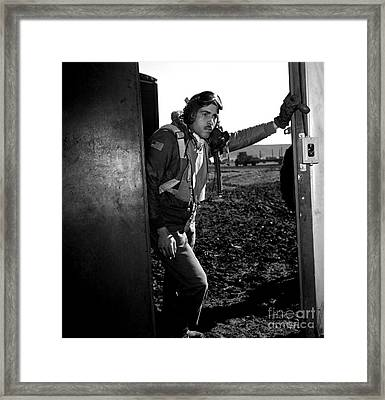 African American Tuskeegee Airman Edward M Thomas 1945 Framed Print by Peter Gumaer Ogden Collection