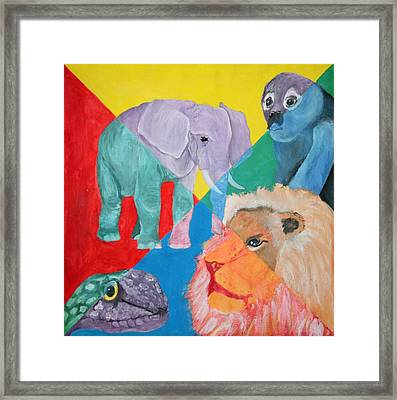 African Animals Framed Print
