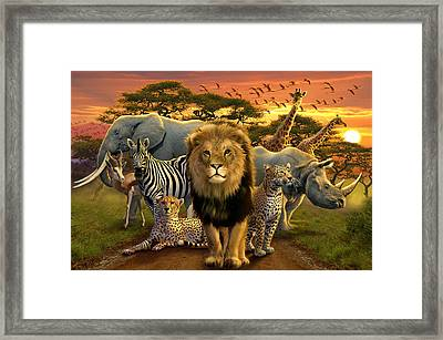 African Beasts Framed Print