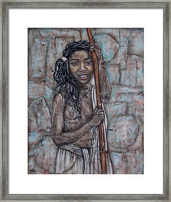 African Beauty I Framed Print by Rain Ririn