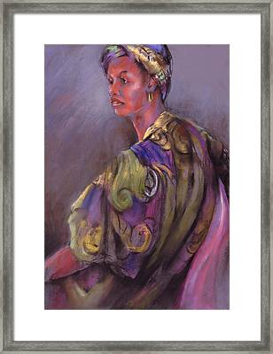 African Beauty Framed Print by Joan  Jones