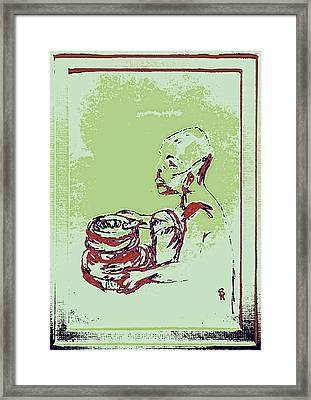 African Boy Blue Framed Print by Sheri Buchheit