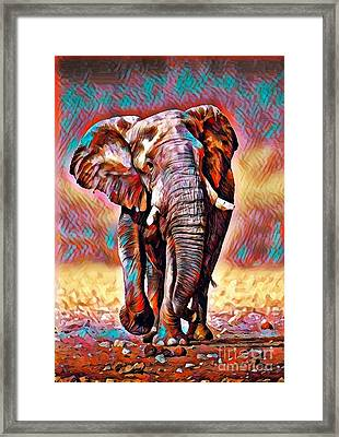 African Bush Elephant - Abstract Framed Print