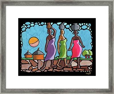 African Cat Walk Framed Print by Anthony Mwangi