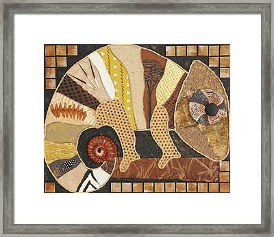 African Chameleon Framed Print