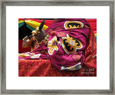Framed Print featuring the photograph African Chief by Erik Falkensteen