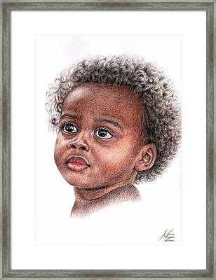 African Child Framed Print by Nicole Zeug