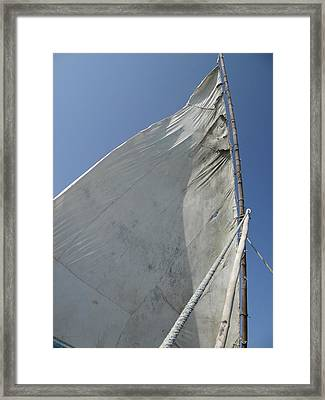 African Cloth Sail In The Afternoon Breeze Framed Print