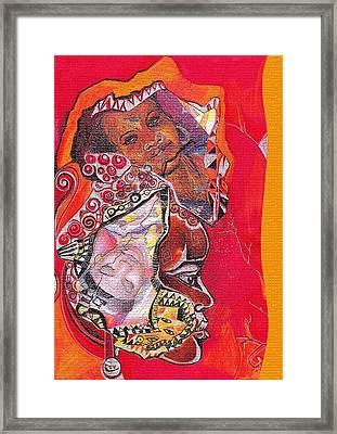 African Crown Framed Print