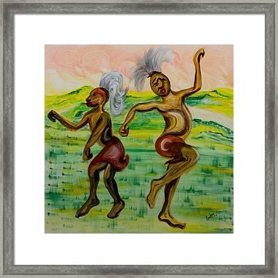 African Dance Framed Print by Emma Kinani