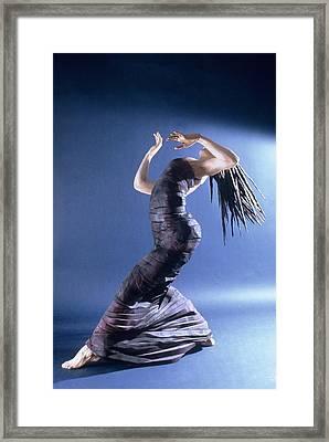 African Dancer Left View Framed Print by Gordon Becker