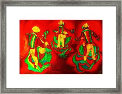 African Dancers Framed Print by Carole Spandau