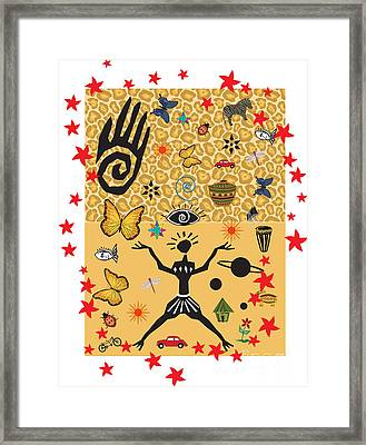 African Design Framed Print by Christine Perry