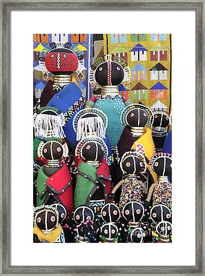 African Dolls Framed Print by Neil Overy