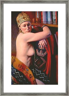 Framed Print featuring the painting African Drum  3 by Donelli  DiMaria