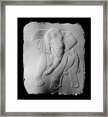 African Elephant Framed Print by Suhas Tavkar