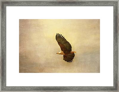 Framed Print featuring the tapestry - textile African Fish Eagle by Kathy Adams Clark