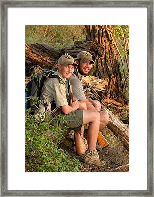 African Game Guides Framed Print by Joseph G Holland