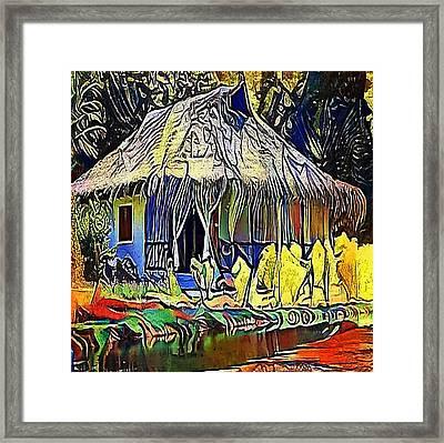 African House - My Www Vikinek-art.com Framed Print by Viktor Lebeda