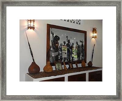African Interior Design 3 Framed Print