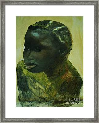 African Lady Framed Print