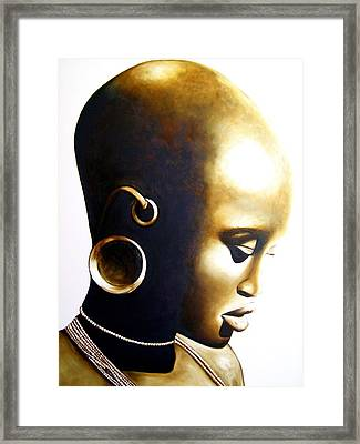 African Lady - Original Artwork Framed Print