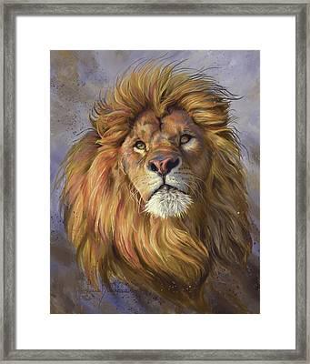 African Lion Framed Print