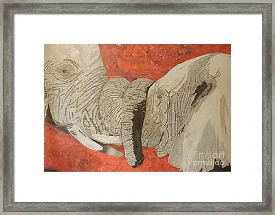 African Love Framed Print
