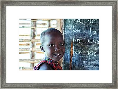 Maasai School Child Framed Print